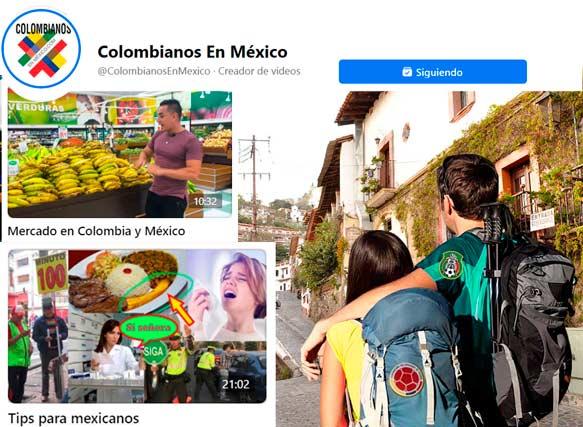 Influenciadores cultura colombo-mexicana y el turista mexicolombiano