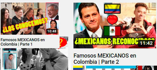 famosos Colombia y México