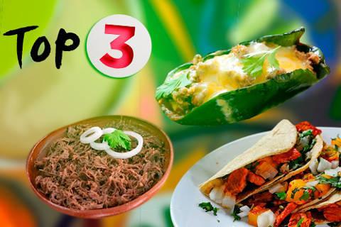 【 Las 3 comidas mexicanas】 que encabezan el ranking de favoritas